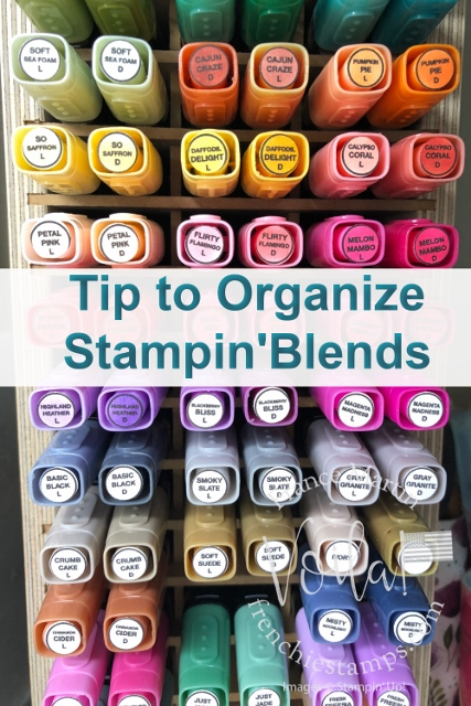 Tip To Organize Stampin' Blends with Labels.