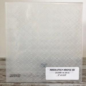 Absolutely Argyle 3D Embossing Folder