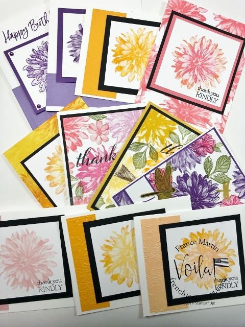 Tip video for the Delicate Dahlias Stamp Set