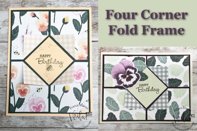 Four Corner Flip Fold Frame With Designer Paper