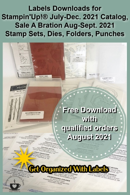 Labels to organize your Stampin'Up!® products from the July-Dec. 2021 catalog.