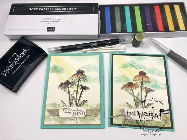 Three simple techniques to color with Soft Pastels.