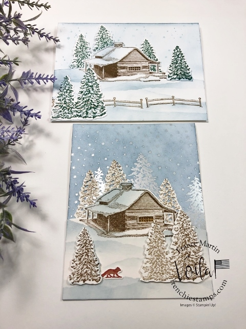 Stamping Tip For the Peaceful Cabin Bundle.