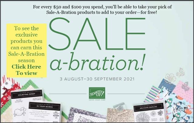 Aug. Sept. 2021 Sale A Bration.