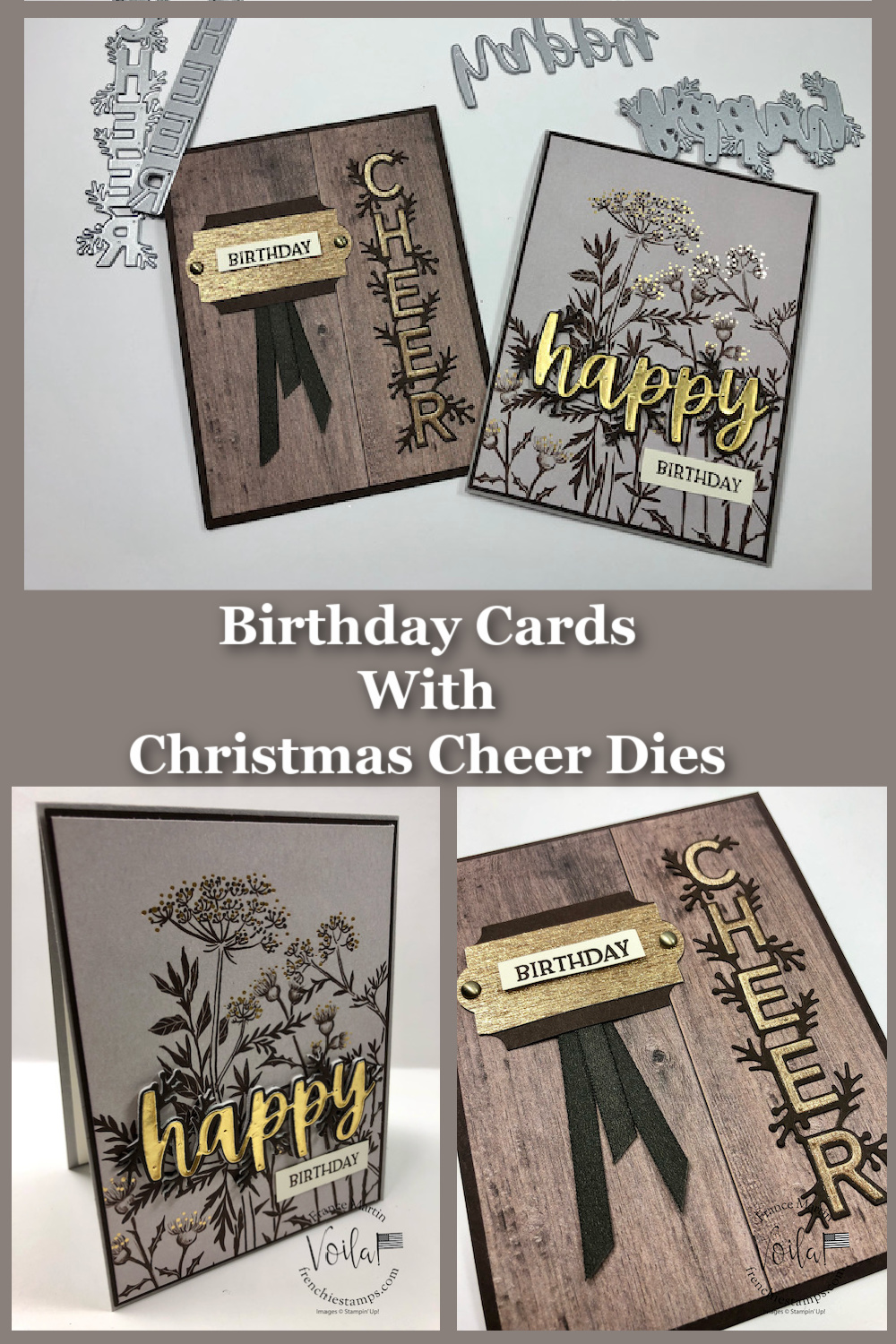 Birthday Cards with Christmas Cheer Dies