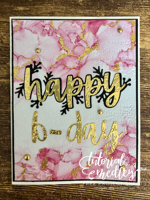 Christmas Cheer Happy Birthday card with Expression In Inks paper