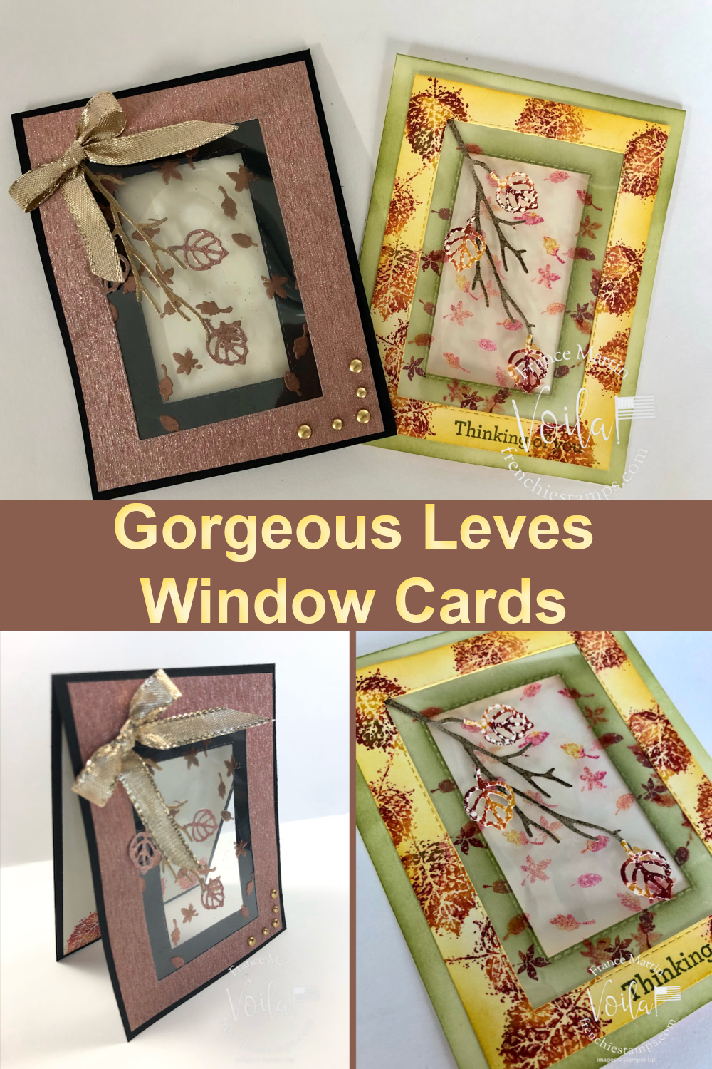 Gorgeous Leaves On A Window Frame Card