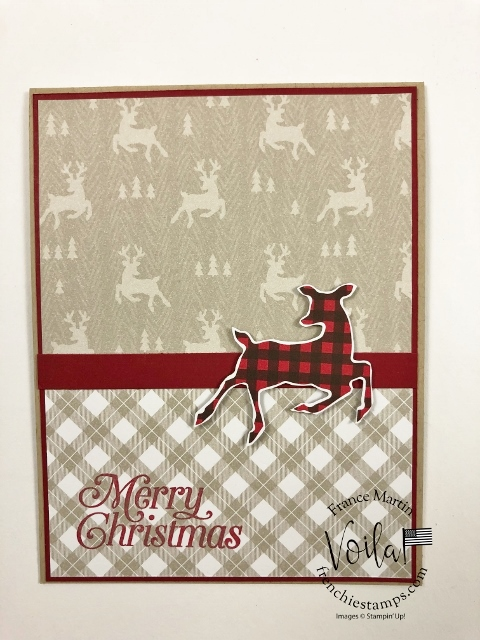 Simple Holiday Cards With Peaceful Prints Designer Paper.