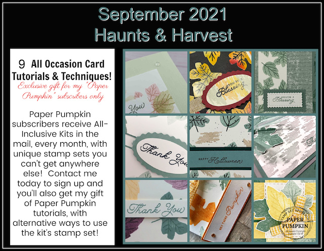 Haunts & Harvest Card Kit Nine Extra Cards Inspiration.