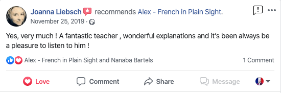 """""""Yes, very much ! A fantastic teacher , wonderful explanations and it's been always be a pleasure to listen to him !"""" - Joanna Liebsch"""