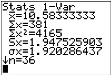 calculette variance moyenne ecart-type