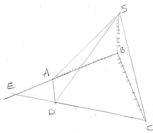 géométrie espace pyramide intersection droites