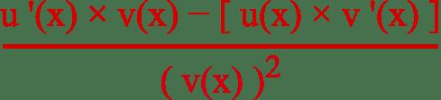 formule dérivée quotient