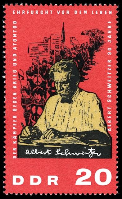 Albert Schweitzer on a GDR Stamp from 1965