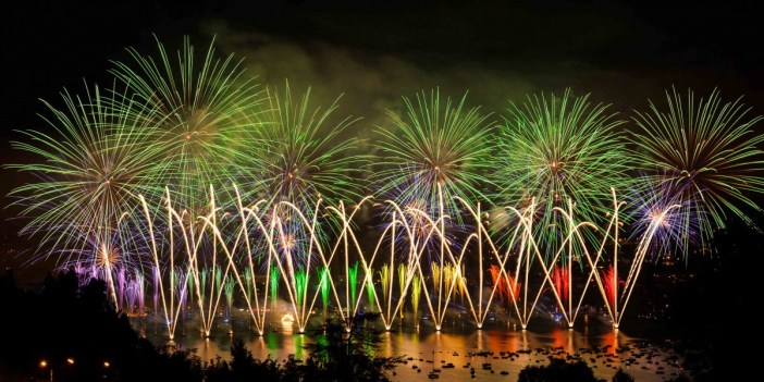 The fireworks of the Fête du Lac in Annecy - Stock Photos from Samuel Borges Photography - Shutterstock