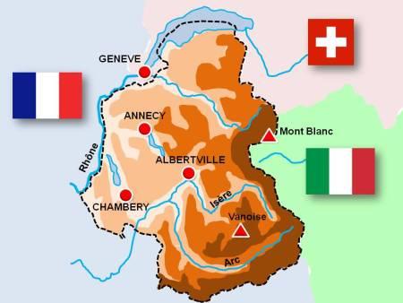 Map of Savoie