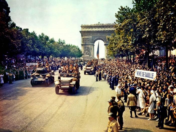 On the Champs-Élysées, 26 August 1944