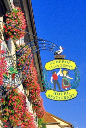Wrought-iron sign, Eguisheim © French Moments