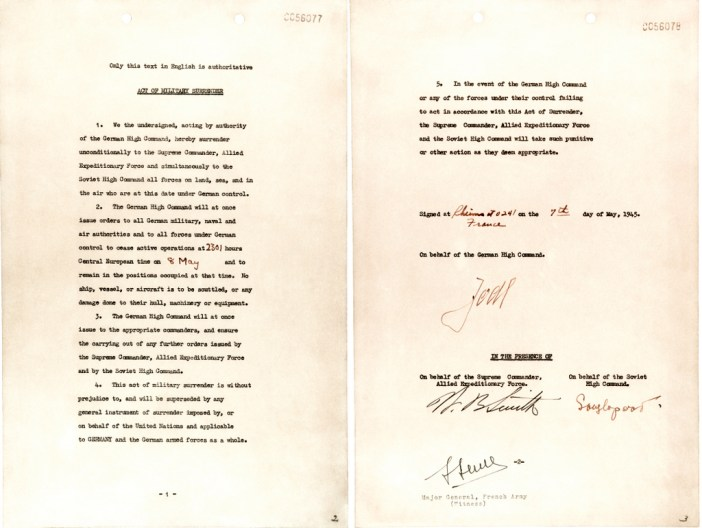 German Instrument of Surrender signed in Reims 7 May 1945