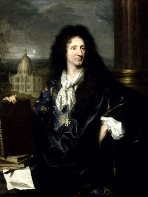 Jules Hardouin Mansart (1784-1844) painted by Hyacinthe Rigaud (1659-1743)