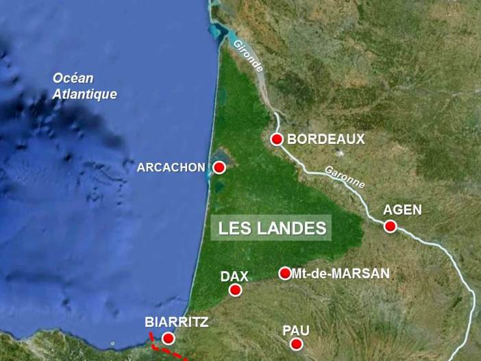 Landes Map by French Moments