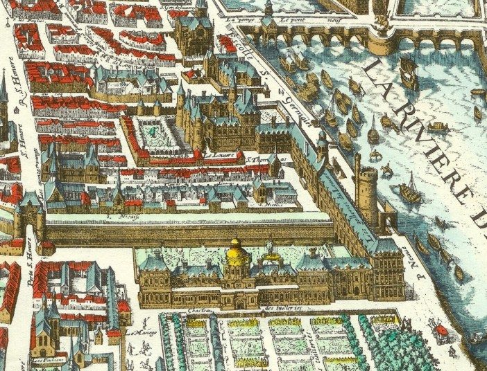 The Louvre and the Tuileries in 1615