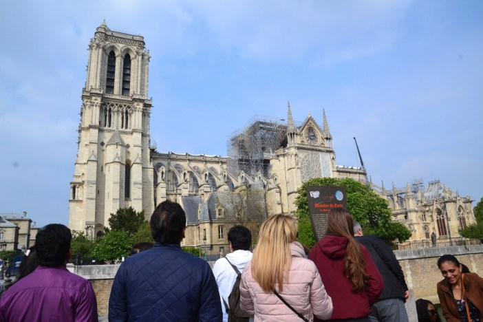 Notre-Dame after the fire © Jeanne Menjoulet - licence [CC BY 2.0] from Wikimedia Commons