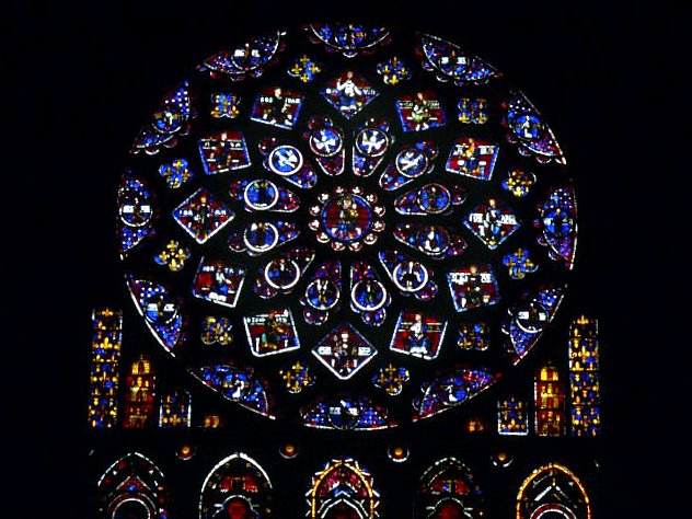 Rose Window Of The North Transept Chartres Cathedral