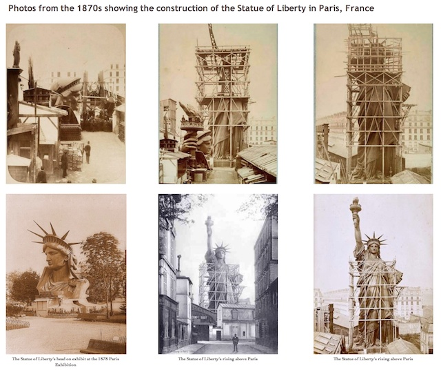 Statue of Liberty in the making (1870s)