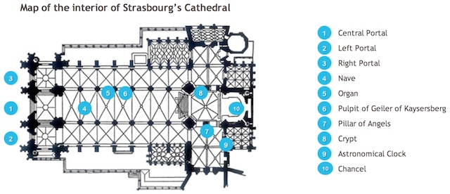 Floor plan of Strasbourg Cathedral
