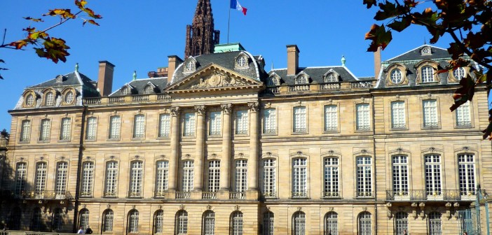 The Rohan Palace and the Cathedral's spire in Strasbourg © French Moments