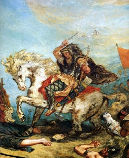 Attila le Hun, painting from Eugene Delacroix