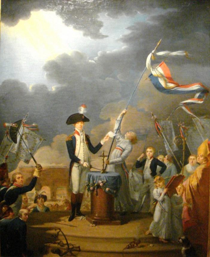 The oath of La Fayette at the Fête de la Fédération 14 July 1790