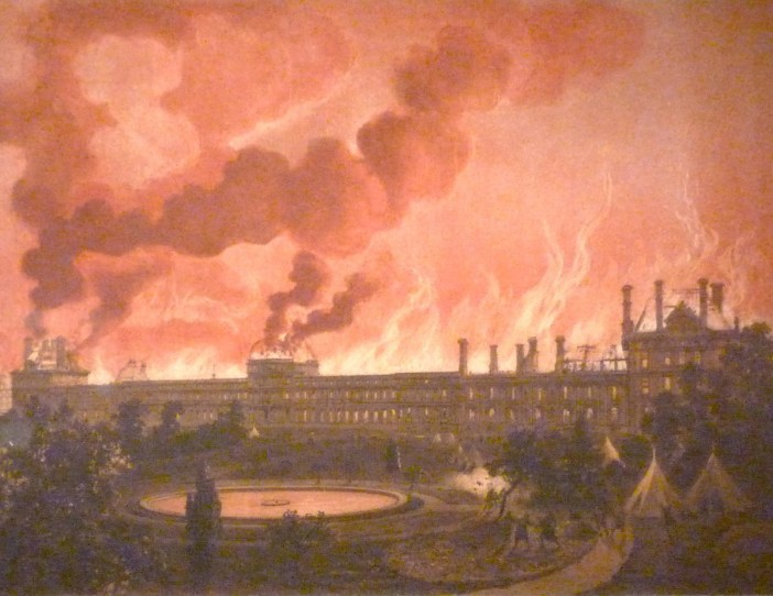 The great fire of the Palais des Tuileries - 23 May 1871