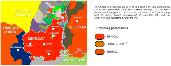 Sundgau Historic Map © French Moments