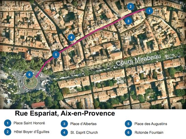 Aix-en-Provence Map Rue Espariat