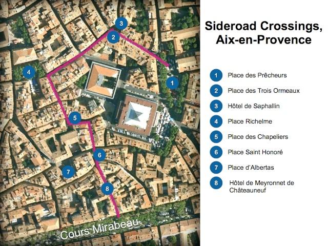 Aix-en-Provence Map Chemins de Traverse
