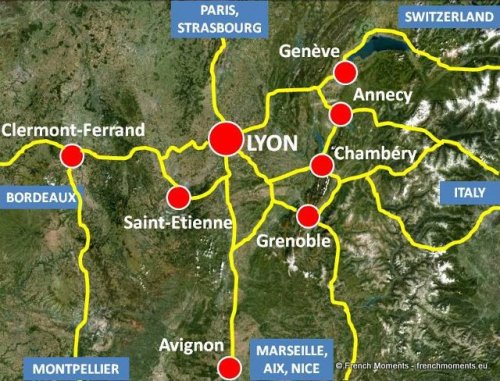 Lyon Situation Map © French Moments