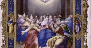 Miniature of Pentecost from the 16th century