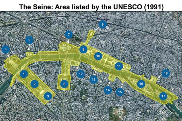 Seine in Paris Map Unesco