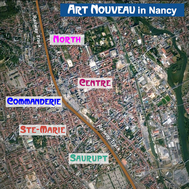 Nancy Art Nouveau - General Map