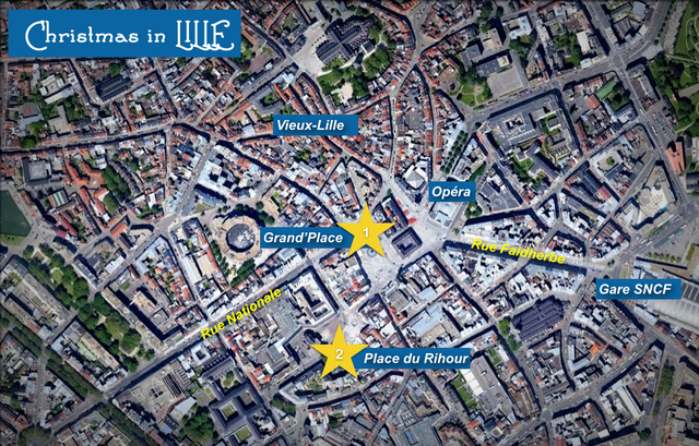 Christmas in Lille Map