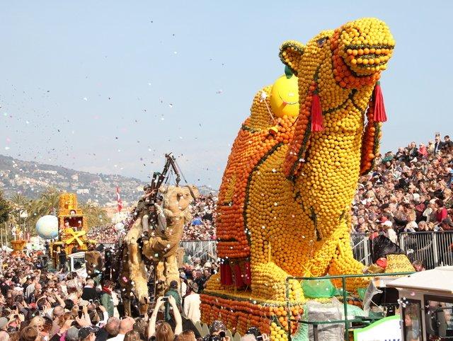 The Golden Fruit Parade in Menton © Office de Tourisme de Menton