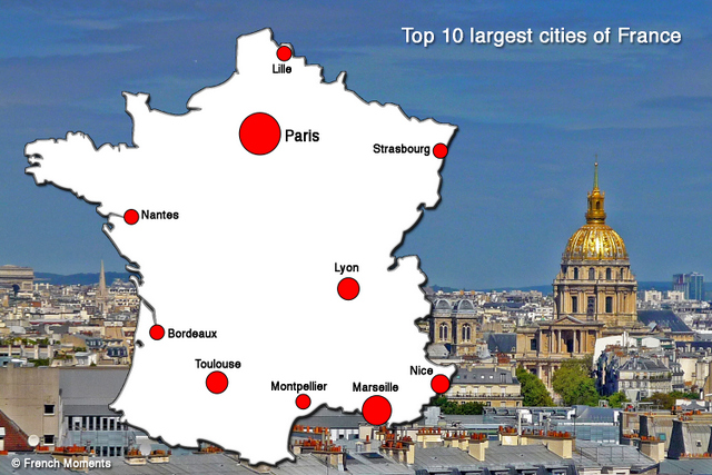 Top 10 largest cities of France by population French Moments