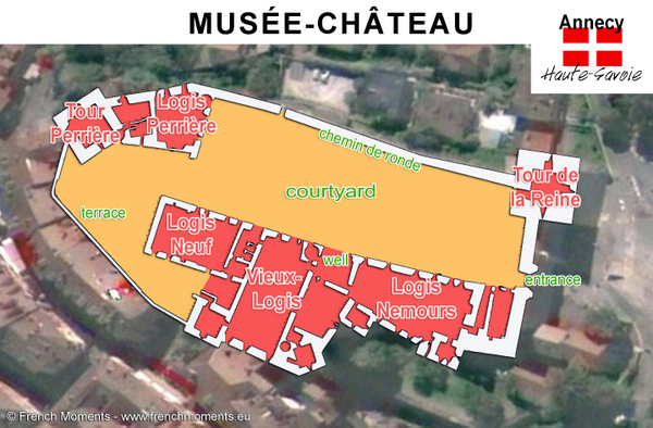 Annecy Castle Map copyright French Moments