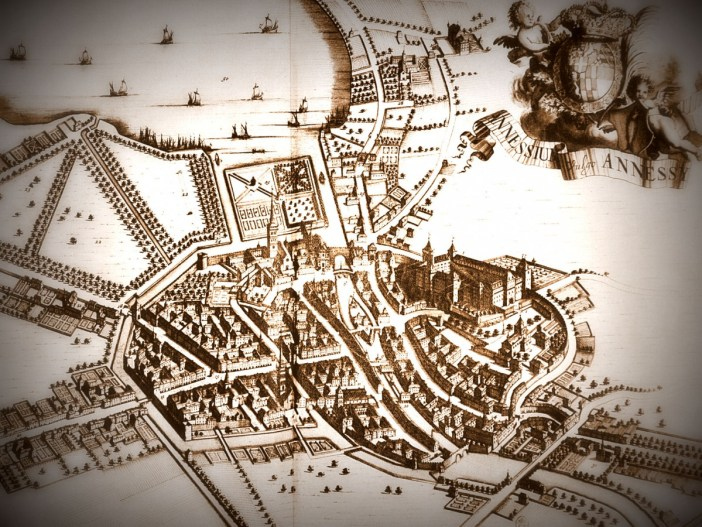 Map of Annecy in the 17th century