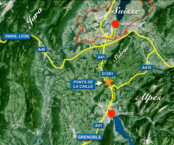 Situation Map of the Ponts de la Caille