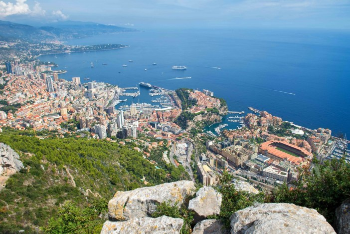 A stunning view of Monaco from the Tête de Chien mountain - Stock Photos from Ingo70 - Shutterstock