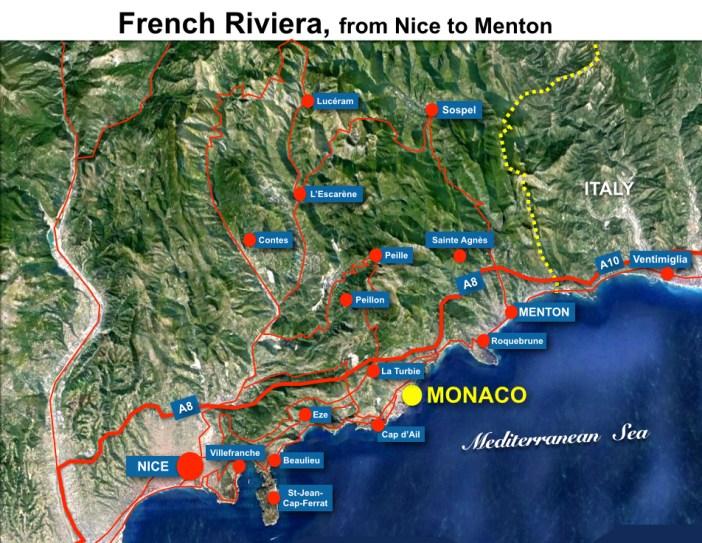 Situation Map Monaco