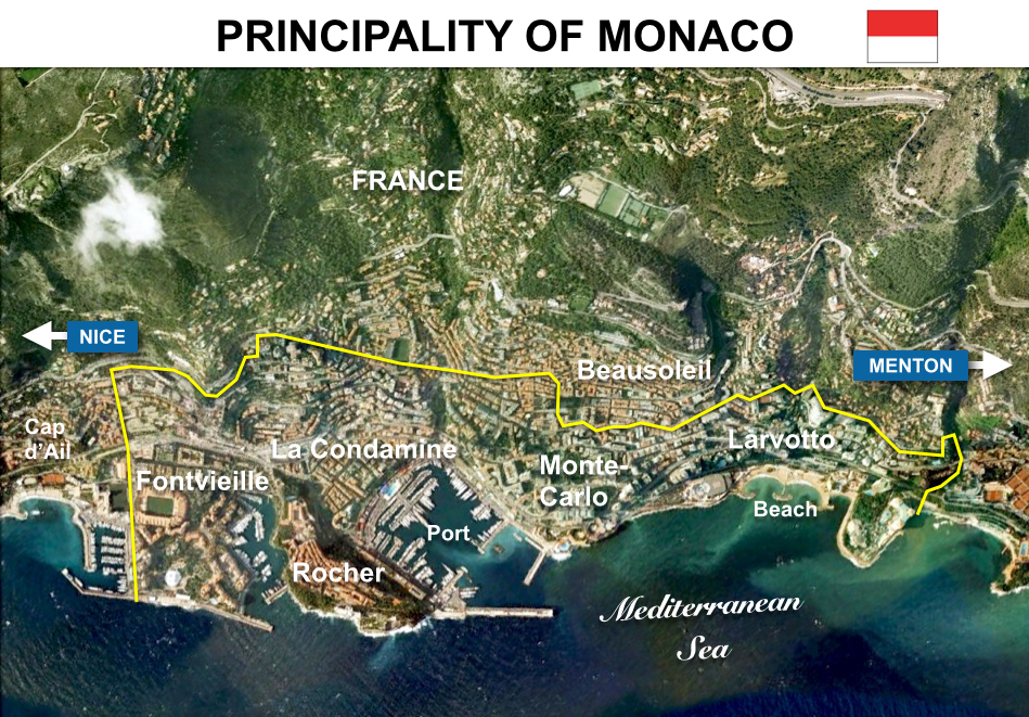 Situation Map Principality of Monaco French Moments